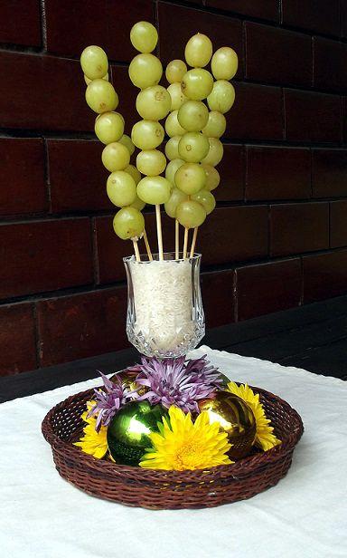 Formas originales de presentar las uvas en nochevieja - Decoracion mesa nochevieja ...