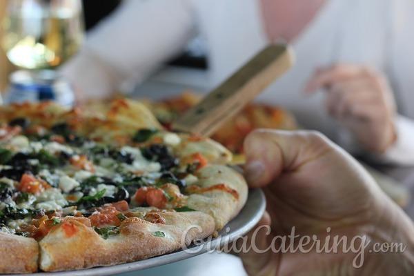 Recepción informal: da las gracias a tus invitados con pizza