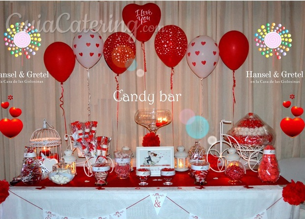 Candy bar romántica